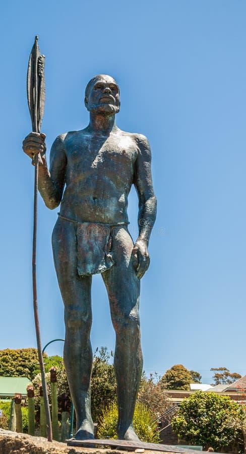 Hombre aborigen de estatua de la paz, Albany Australia foto de archivo libre de regalías