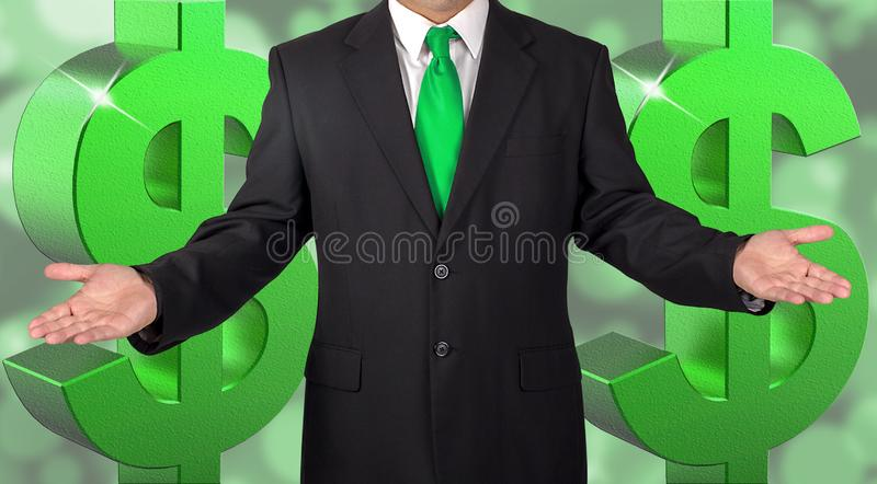 Hombre acertado vestido sostenido foto de archivo libre de regalías