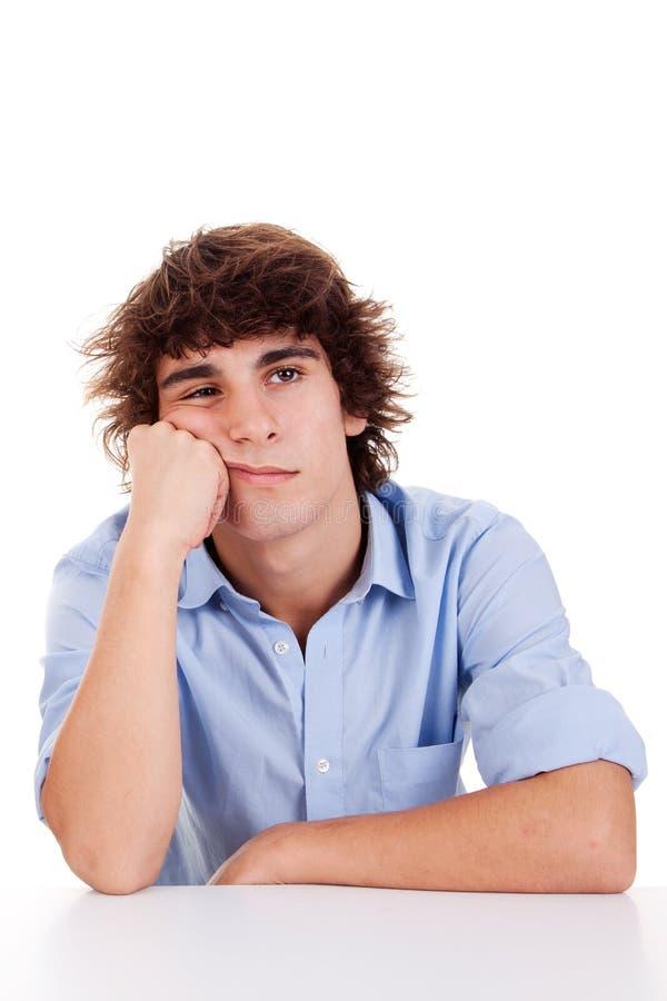 Hombre-adolescente joven lindo, agujereado foto de archivo