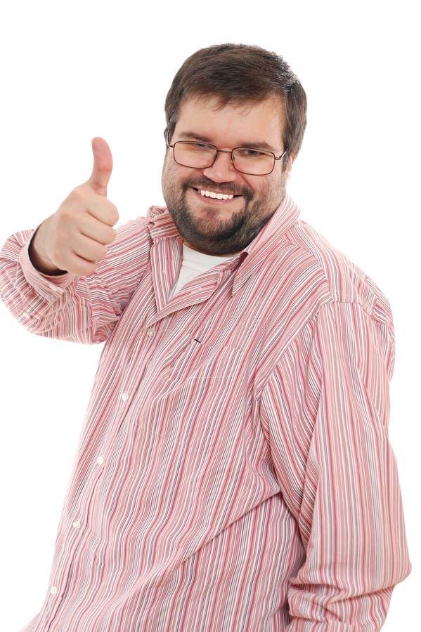Hombre adulto grande feliz imágenes de archivo libres de regalías