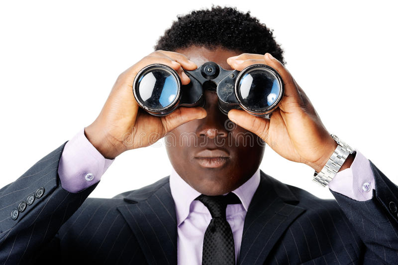 Hombre africano binocular imagen de archivo libre de regalías