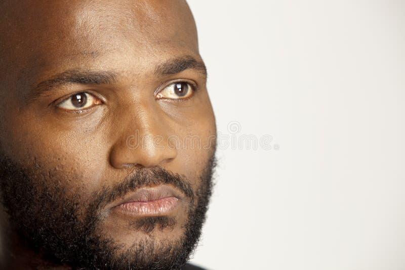 Hombre africano serio fotografía de archivo