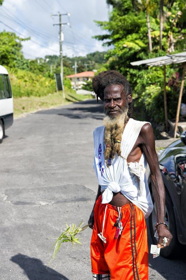 Hombre afroamericano barbudo delgado fotografía de archivo