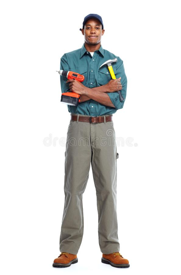 Hombre afroamericano del trabajador fotografía de archivo