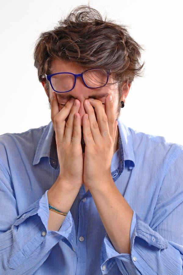 Hombre agotado fotografía de archivo libre de regalías
