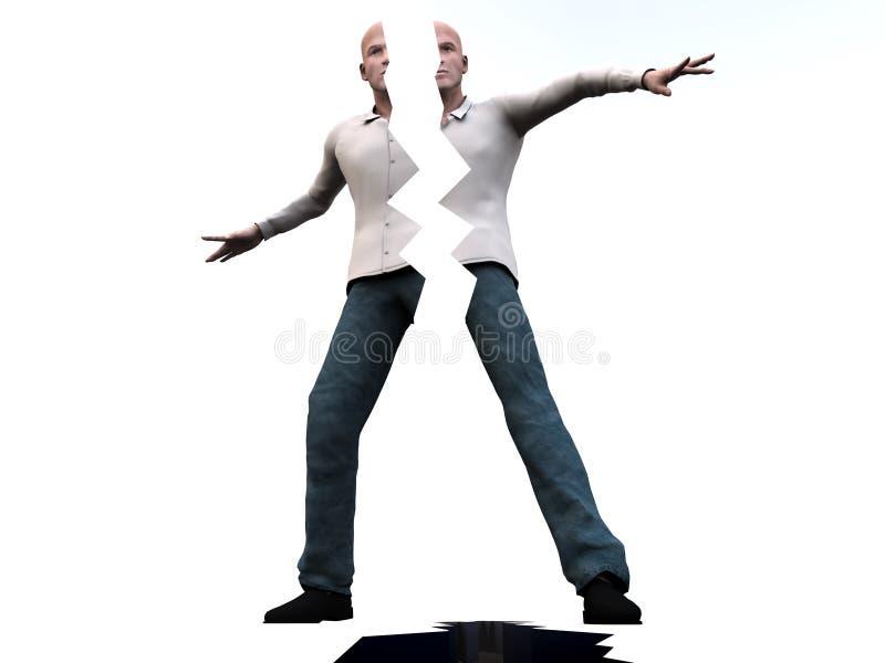 Hombre agrietado 5 libre illustration