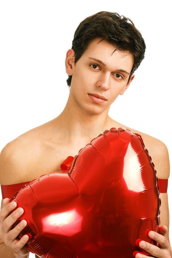 Hombre amoroso hermoso joven foto de archivo
