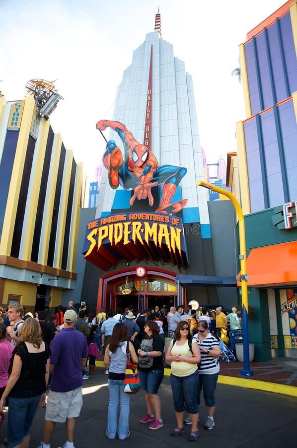 Hombre araña en los estudios universales Orlando fotografía de archivo libre de regalías