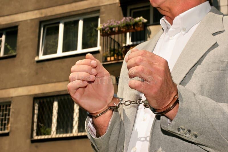 Hombre arrestado fotos de archivo libres de regalías