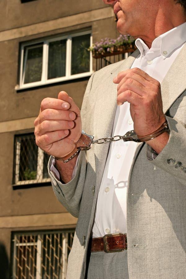 Hombre arrestado imágenes de archivo libres de regalías