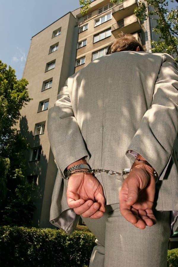 Hombre arrestado fotos de archivo