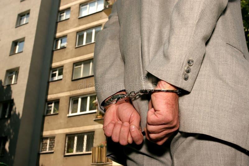 Hombre arrestado fotografía de archivo libre de regalías