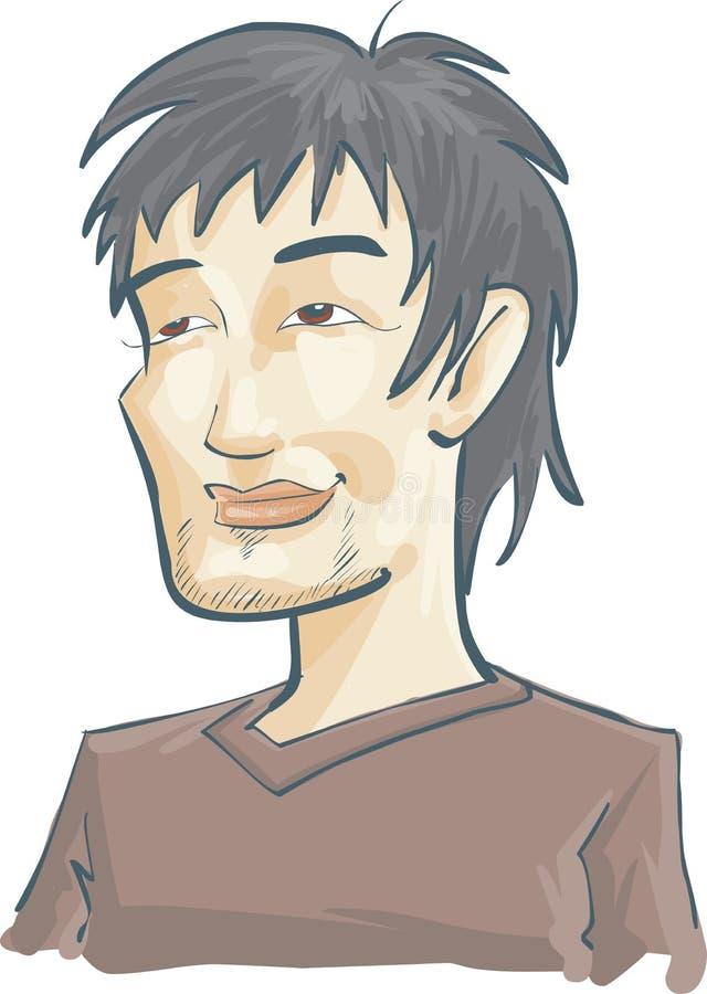 Hombre asiático stock de ilustración