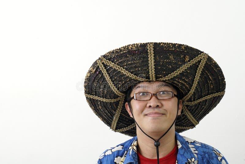 Hombre asiático divertido   imagen de archivo libre de regalías