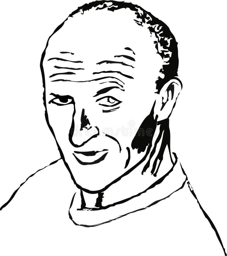Hombre Balding stock de ilustración