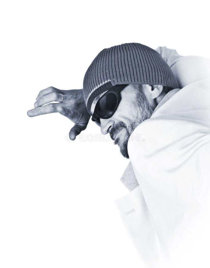 Hombre barbudo imagenes de archivo
