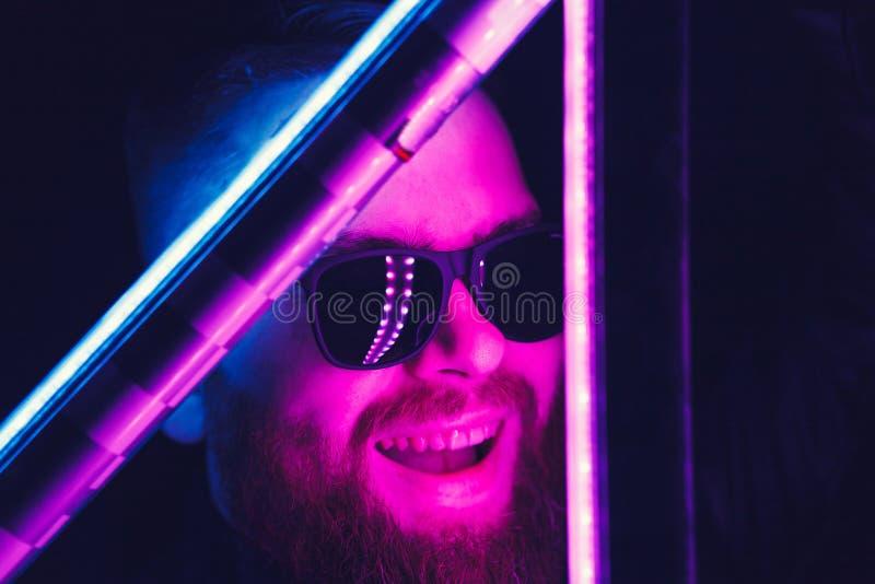 Hombre barbudo loco del inconformista imágenes de archivo libres de regalías