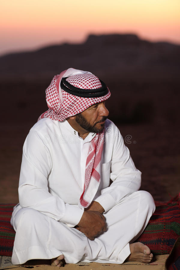 Hombre beduino imágenes de archivo libres de regalías