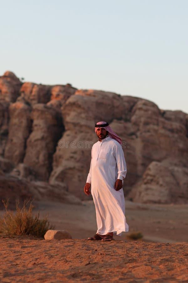 Hombre beduino fotografía de archivo