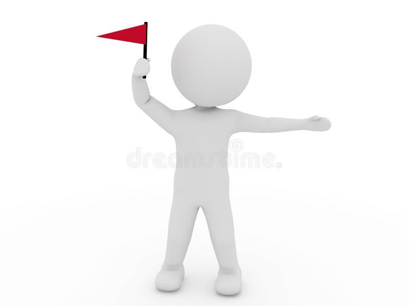 Hombre Blanco Con El Indicador Rojo Fotos de archivo