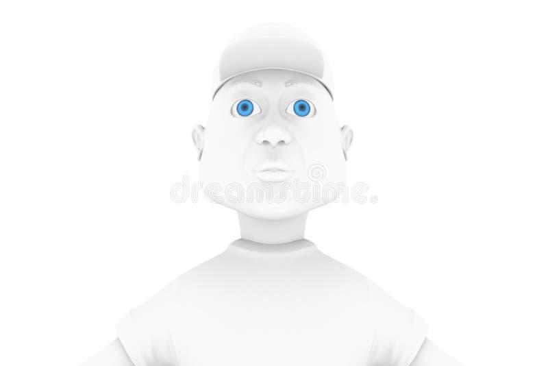 Hombre cómico sonriente stock de ilustración