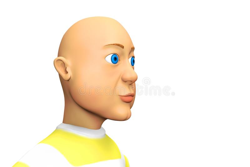 Hombre calvo de ojos azules libre illustration