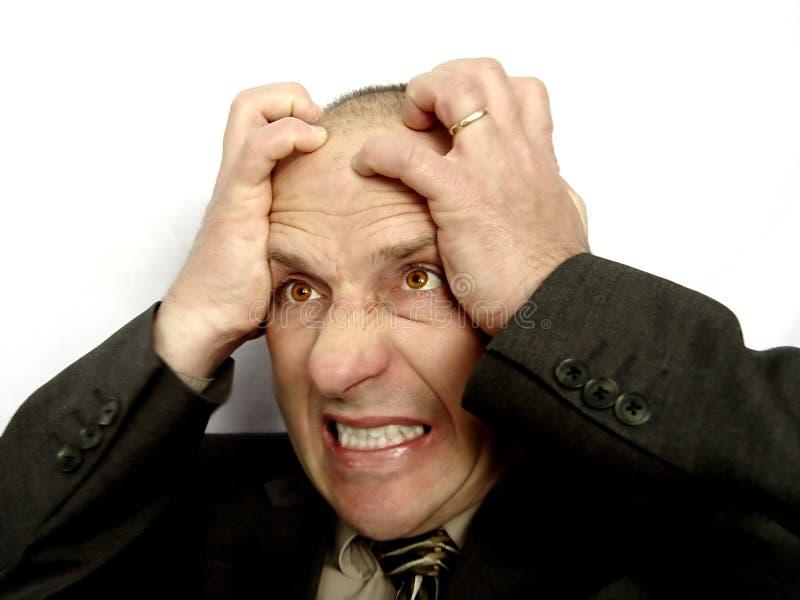 Hombre casado frustrado imagen de archivo