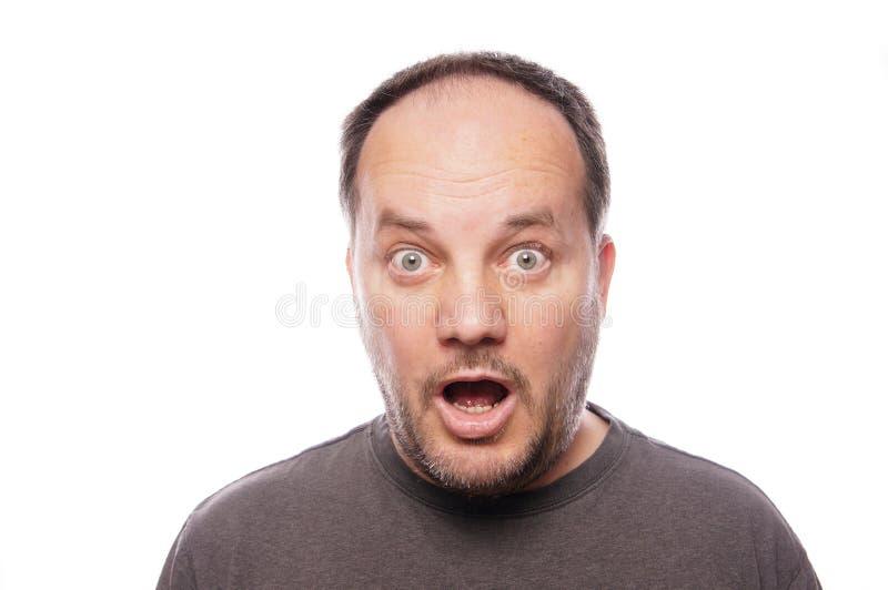 Hombre chocado foto de archivo libre de regalías