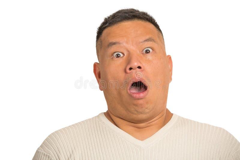 Hombre chocado, sorprendido fotografía de archivo