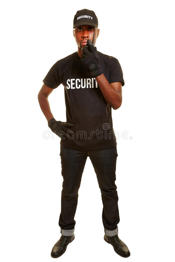 Hombre como guardia de seguridad fotos de archivo libres de regalías