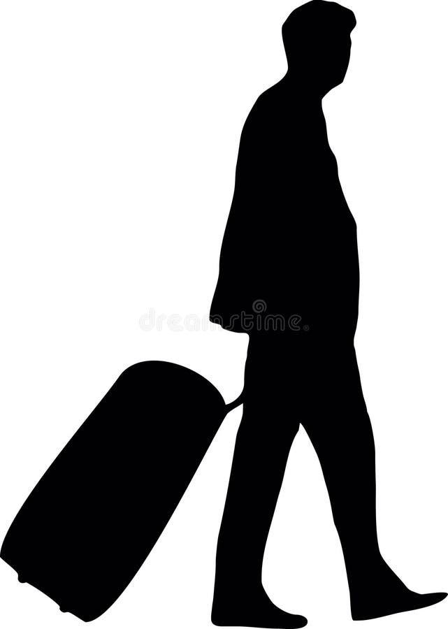 Hombre con bagaje stock de ilustración
