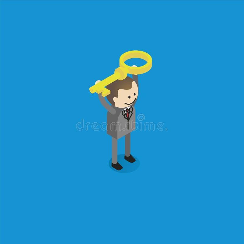 Hombre con clave libre illustration