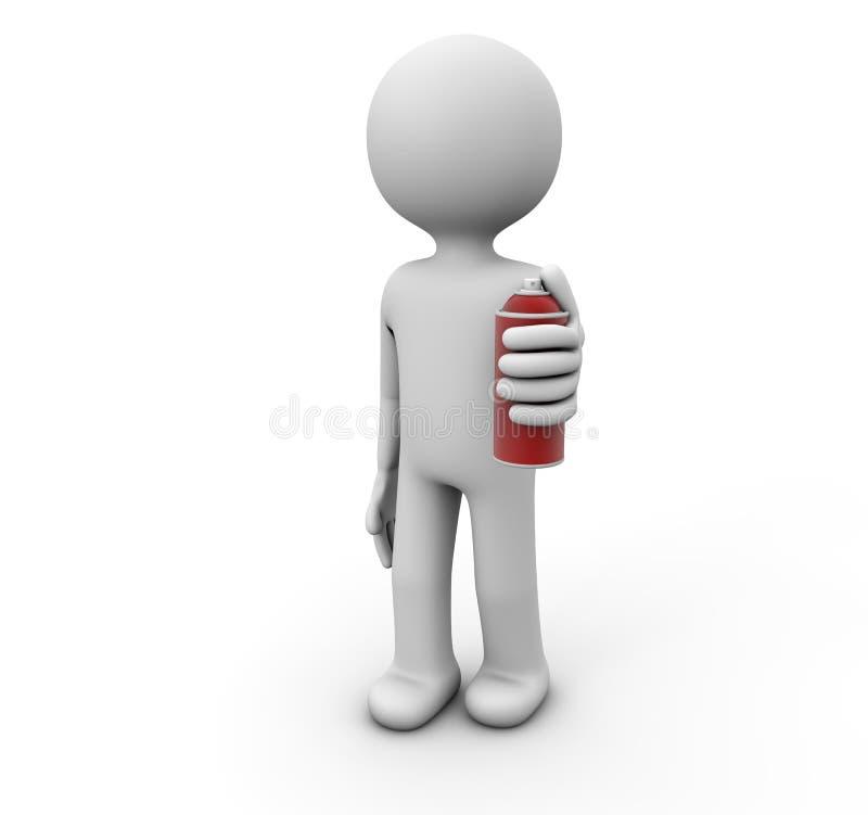 Hombre con el aerosol libre illustration