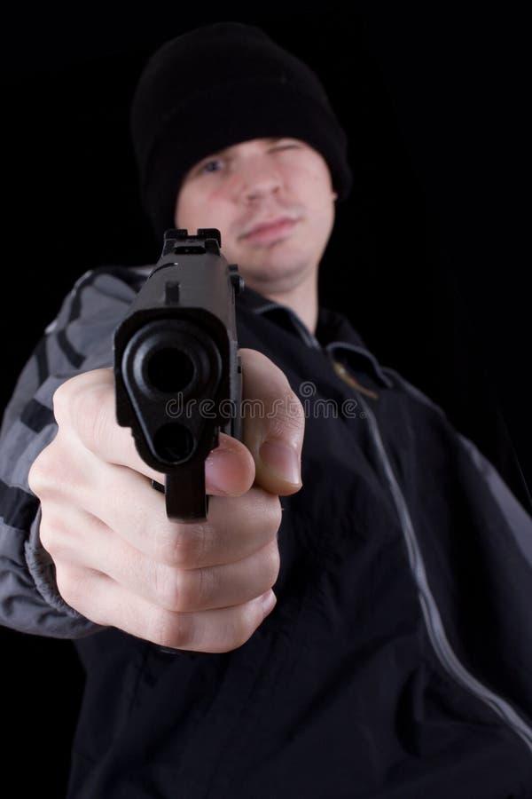 Download Hombre con el arma foto de archivo. Imagen de armado, adulto - 7276994