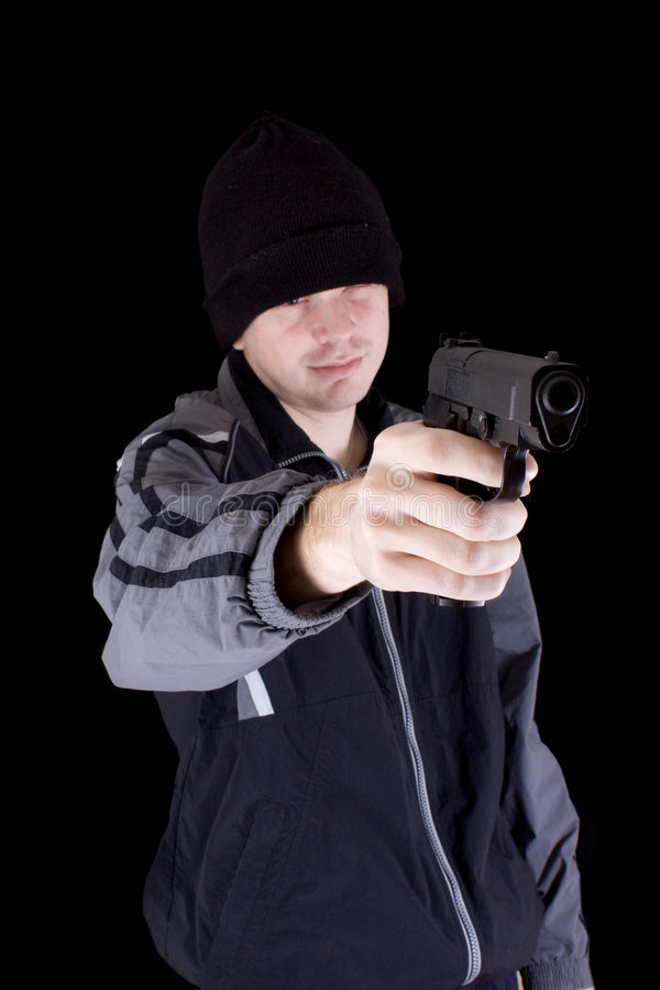 Download Hombre con el arma foto de archivo. Imagen de pistolero - 7277104