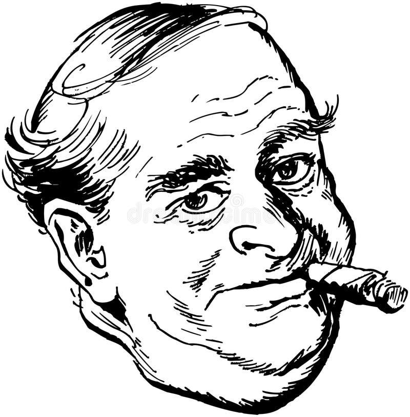 Hombre con el cigarro libre illustration
