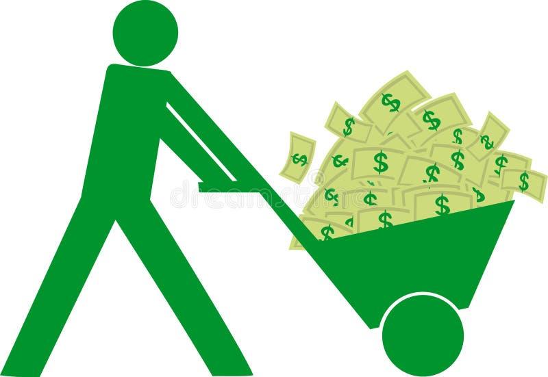 Hombre con el dinero stock de ilustración