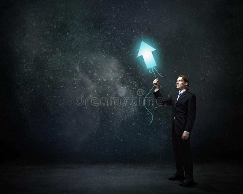 Hombre con el globo del concepto fotos de archivo libres de regalías