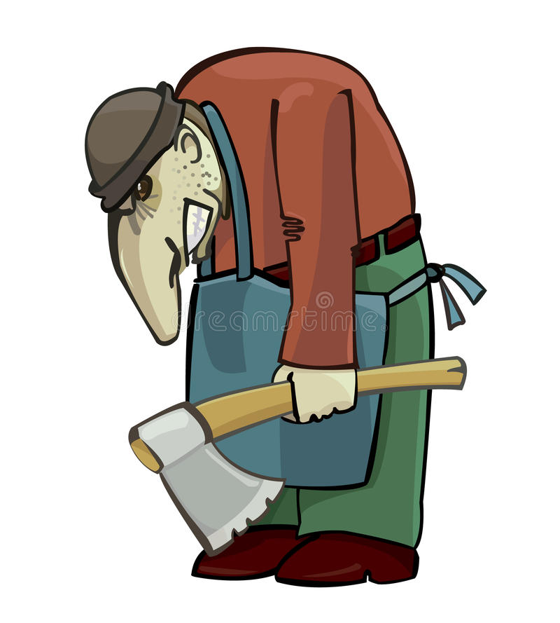Hombre con el hacha libre illustration