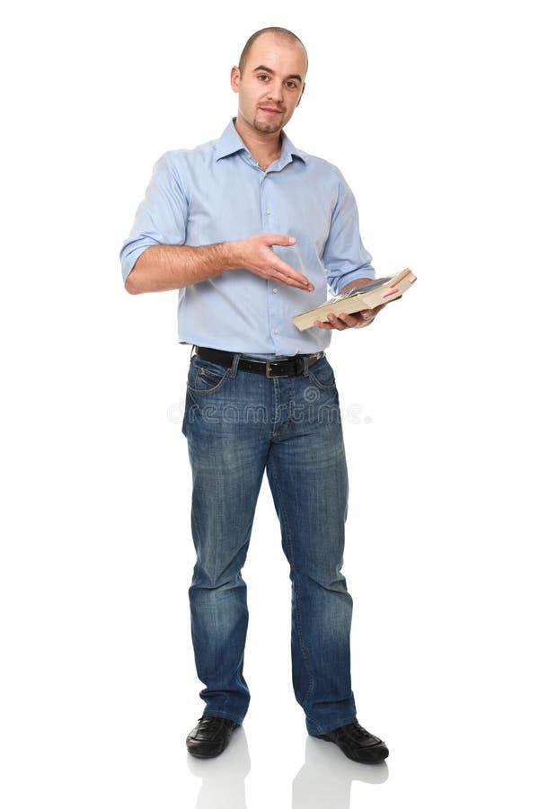 Hombre con el libro fotografía de archivo