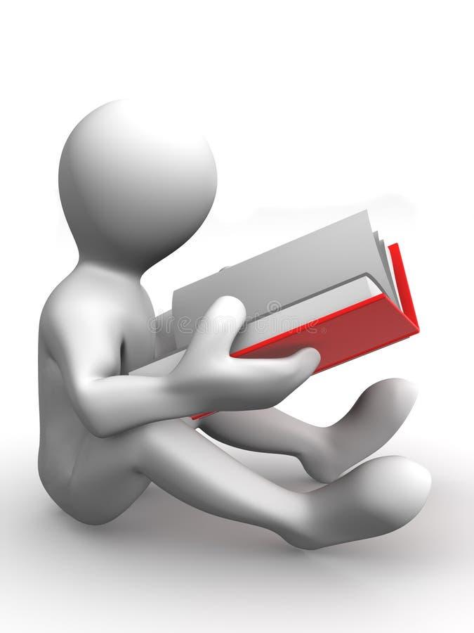 Hombre con el libro libre illustration