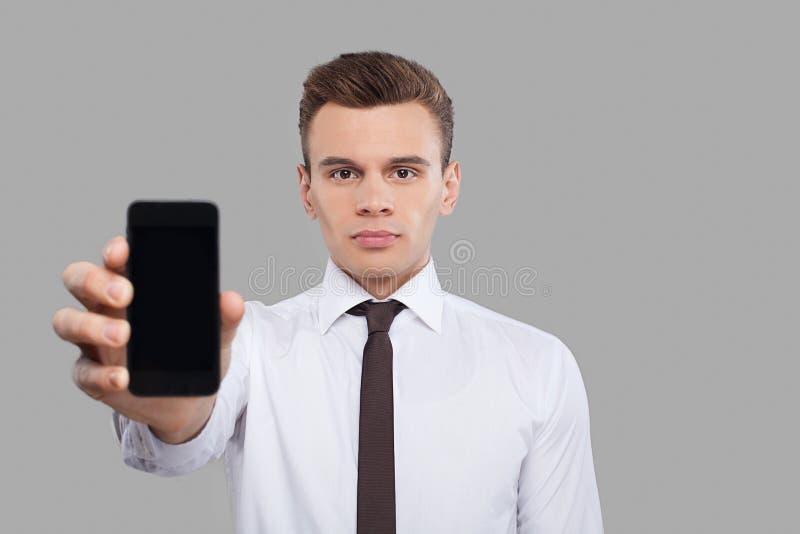 Hombre con el móvil. imágenes de archivo libres de regalías