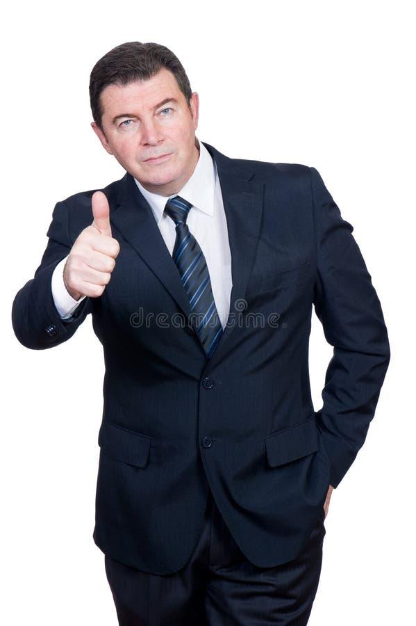 Hombre con el pulgar para arriba imagen de archivo