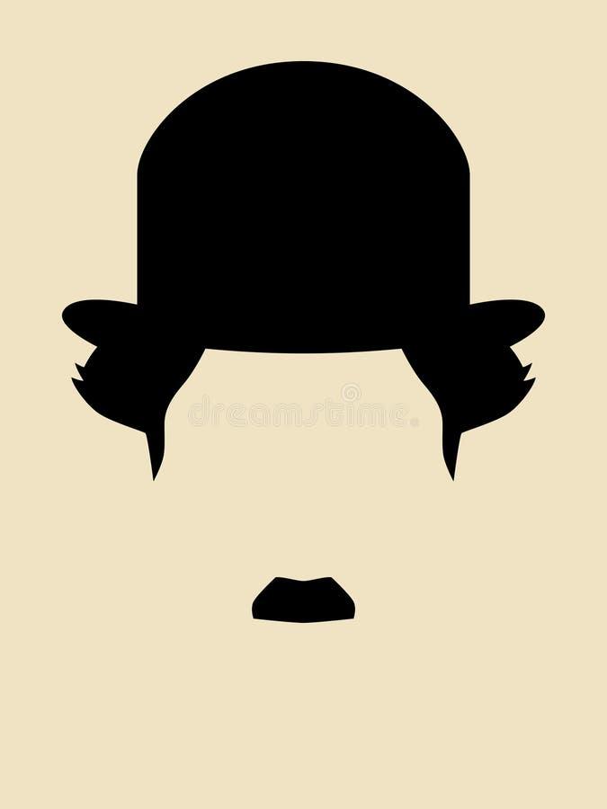 Hombre con el sombrero del vintage stock de ilustración