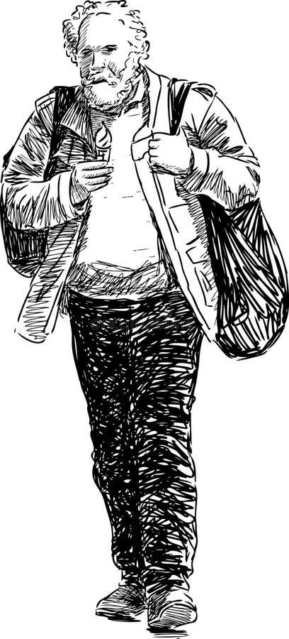 Hombre Con Helado Fotografía de archivo libre de regalías