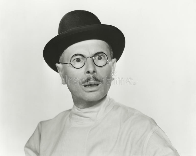 Hombre con incredulidad foto de archivo