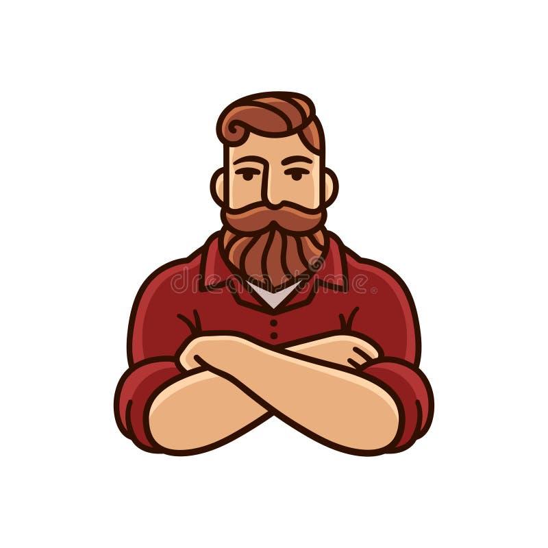 Hombre con la barba y el bigote libre illustration