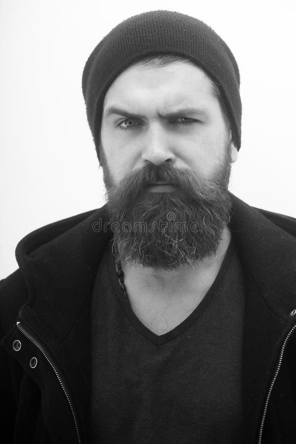 Hombre con la barba y el bigote largos foto de archivo