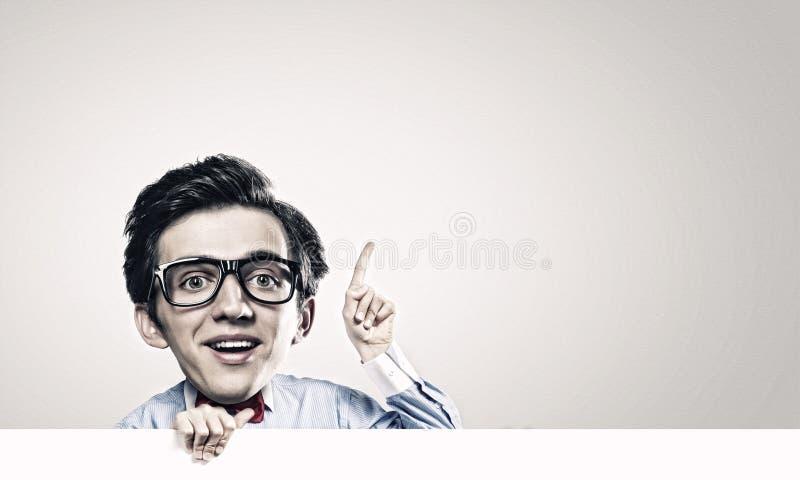 Hombre con la cabeza grande foto de archivo libre de regalías