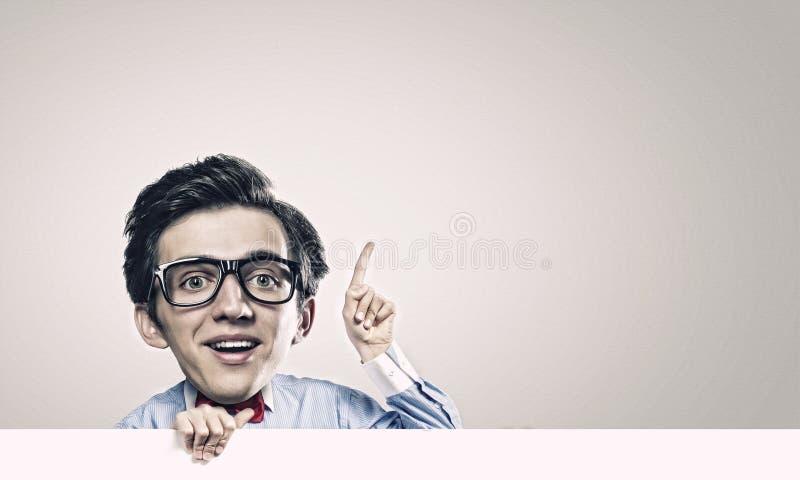 Hombre con la cabeza grande imagen de archivo libre de regalías